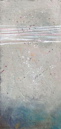 Beize, Acrylmalerei, Marmormehl, Tusche