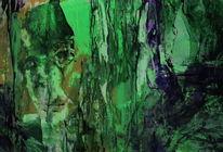 Grün, Ocker, Violett, Malerei