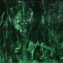 Grün, Gesicht, Dunkel, Gestalt