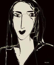 Schwarzweiß, Surreal, Gesicht, Zeichnungen