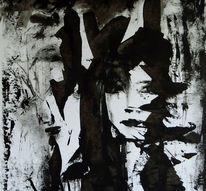 Schwarz weiß, Portrait, Winter, Malerei