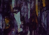 Blick, Violett, Hellblau, Gesicht