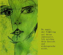 Gesicht, Gedicht, Grün, Frühling