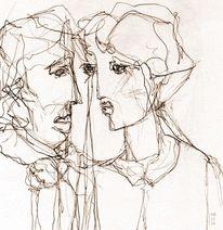 Skizze, Gesicht, Zeichnung, Zeichnungen
