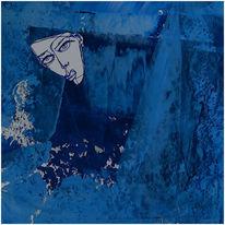 Collage, Acrylmalerei, Zeichnung, Mischtechnik