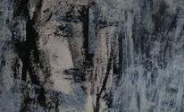 Schwarz weiß, Grau, Blau, Malerei