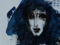 Gesicht, Blau, Portrait, Transparenz
