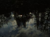 See, Himmel, Spiegelung, Wolken