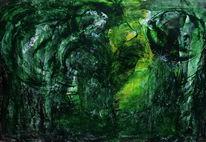 Archetypen, Grün, Ursprung, Malerei
