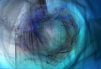 Fantasie, Traumgesichter, Blautöne, Schlaf