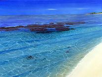 Meer, Bewegt, Malediven, Urlaub