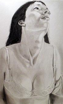 Portrait, Dekoltee, Mädchen, Zeichnungen