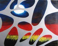 Acrylmalerei, Rot, Uruk, Blau