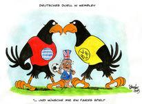Cartoon, Fußball, Wembley, Bayern münchen