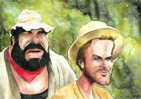 Bud spencer, Karikatur, Cartoon, Terence hill