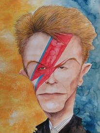David bowie, Karikatur, Cartoon, Zeichnungen