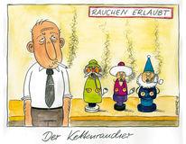 Kettenraucher, Karikatur, Weihnachten, Cartoon