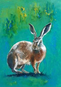 Acrylmalerei, Tiere, Natur, Expressionismus