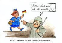 Angela merkel, Cartoon, Karikatur, Ddr