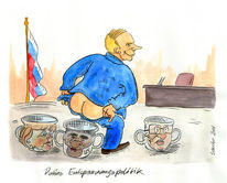Karikatur, Putin, Cartoon, Russland