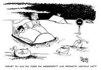 Karikatur, Wasserbett, Cartoon, Zeichnungen