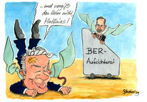 Wowereit, Brandenburg, Cartoon, Platzeck