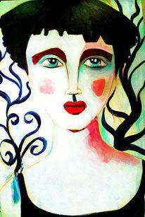 Mädchen, Zauberwald, Geheimnisvoll, Malerei