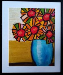 Blumen, Bunt, Sommer, Malerei