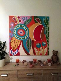Blumen, Fantasie, Bunt, Malerei