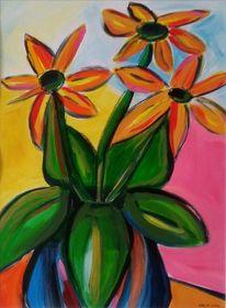 Freude, Blumen, Pink, Malerei