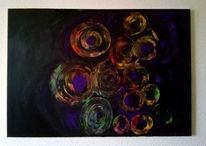 Verwirrung, Kreis, Schwarz, Malerei