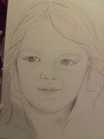 Kind, Bleistiftzeichnung, Mädchen, Zeichnungen
