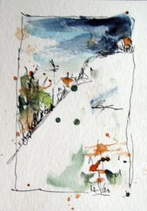 Skizze, Zeichnung, Aquarellmalerei, Aquarell