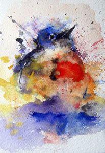 Tiere, Aquarellmalerei, Nass, Aquarell