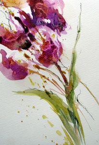 Blumen, Pflanzen, Aquarellmalerei, Aquarell