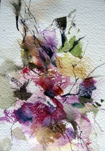 Pflanzen, Aquarellmalerei, Nass, Aquarell