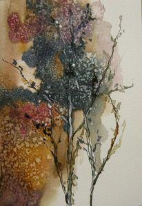 Pflanzen, Aquarellmalerei, Skizze, Aquarell