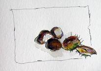 Pflanzen, Skizze, Aquarellmalerei, Aquarell
