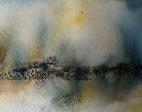 Schicht, Abstrakt, Aquarellmalerei, Nass