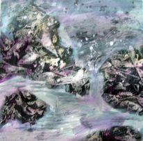 Mischtechnik, Acrylmalerei, Schicht, Malerei