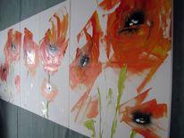 Malerei, Wilder, Mohn