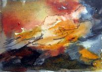 Menschen, Skizze, Abstrakt, Aquarellmalerei