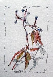 Blumen, Malerei, Skizze, Aquarell