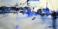 Aquarellmalerei, Nass, Landschaft, Aquarell