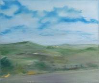 Landschaft, Himmel, Skizze, Realismus