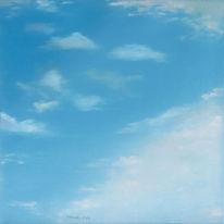 Ölmalerei, Skizze, Himmel, Wolken