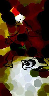 Tanz, Dreh, Tiere, Digitale kunst