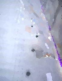 Spuuren, Schnee, Tatze, Digitale kunst