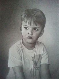 Portrait, Junge, Bleistiftzeichnung, Zeichnungen