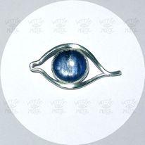 Silberschmiede, Augen, Anhänger, Amulett